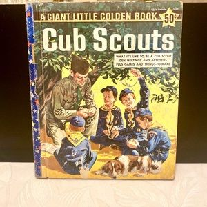 Vintage 1959 Giant Little Golden Book 'Cub Scouts'